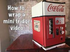 How to Install Mini Fridge Skin Rmwraps.com - YouTube
