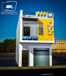 Introducing indian modern house exterior elevation in front. House Outer Design, House Front Design, Small House Design, Modern House Design, Bungalow Haus Design, Duplex House Design, Building Elevation, House Elevation, Bungalow Exterior