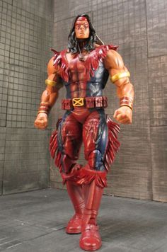 Warpath (Marvel Legends) Custom Action Figure by PackRatStudios Recipe is following: MS Thor Torso, arms lower legs and head ML Bulldozer waist and thighs.  Neca Hit Girl Hair Marvel Universe Hulk Fists Older Kevin Nash NWO tassels the rest is sculpted or fodder
