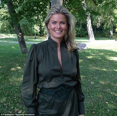 Former Norwegian supermodelVendela Kirsebom (pictured), 49, has told of how Donald Trump's 'vulgar', sexist comments forced her to move tables at a 1993 White House dinner