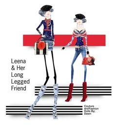 """""""Leena & Her Long Legged Friend Mikky Beth"""" by dawn-lindenberg ❤ liked on Polyvore featuring art"""