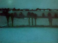"""""""'Effect de nuit' (1896) by William Degouve de Nuncques #art #arte #night"""""""