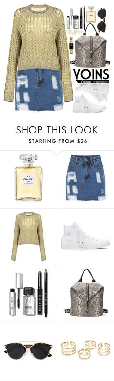 """Yoins.com"" by oshint ❤ liked on Polyvore featuring Chanel, Converse, Bobbi Brown Cosmetics, Christian Dior, women's clothing, women's fashion, women, female, woman and misses"