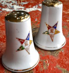 Vintage Norcrest Order Eastern Star Salt by MomsantiquesNthings, $10.00