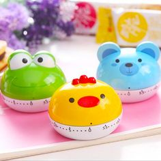 New Cute Cartoon Frog/Birds//Pig Animals Timer Kitchen Timers Cooking Timer Mini Mechanical Movement Timer Alarm Clock #Affiliate