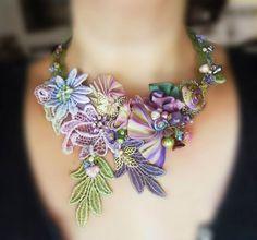 Jewellery Shibori - a novelty on the market hendmeyd - Fair Masters - handmade, handmade Ribbon Jewelry, Soutache Jewelry, Jewelry Crafts, Beaded Jewelry, Handmade Jewelry, Earrings Handmade, Shibori, Jewelry Trends, Jewelry Sets