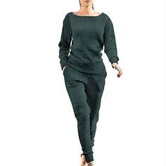 ZEZKT Sportswear Femme - Femme Ensemble Vêtements de Sport Sweat-Shirt  Pantalon Jogging Survêtement 2pcs 85aa9f342e8