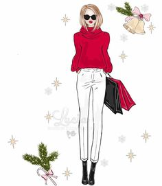 #Christmas☃️ @lucia_illustrations| Be Inspirational ❥|Mz. Manerz: Being well dressed is a beautiful form of confidence, happiness & politeness
