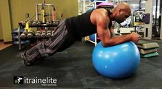 """EXERCISE: Stability Ball Isometric Plank from: """"What Every Runner Should Know About Knee Pain"""""""