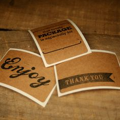 Nice brown bag labels, stick permanently to most sufaces $8