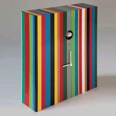 Orologio da parete o da Appoggio 30x12xh35 Arcoiris colorato Cucù
