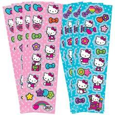 Rainbow Hello Kitty Stickers 8 Sheets - Party City