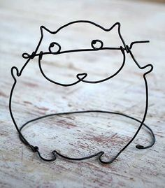 Wire cat by WireDreams on Etsy