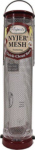 Outdoor Décor-ASPECTS 431 Quick Clean Nyjer Mesh Tube Bird Feeder ** Read more reviews of the product by visiting the link on the image.