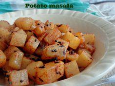 PotatoPoriyalWithoutPressureCooker/DrySideDishForRoti.Simple potato/aloo subzi for rice and roti