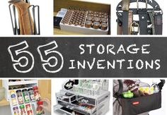 These clever storage inventions will simplify your life! A lot of them are perfect for small spaces, but also for those of you that love to be organized. These are easy storage solutions for everything from the kitchen and bathroom to the car and garage.