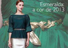 O verde esmeralda é a cor de 2013.  Que tal investir em uma blusa linda da Beth Walty para o seu inverno?