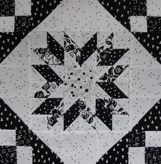 Traditional pieced PDF quilt pattern Black and White Delight Star Quilt Patterns, Pattern Blocks, Star Blocks, Quilt Blocks, Black And White Quilts, Grey Quilt, Traditional Quilts, Flower Applique, Baby Quilts