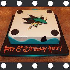San Jose Sharks hockey cake!