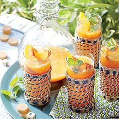 Served ice cold, these refreshing cocktails keep your guests cool. Frozen Peach Old Fashioneds