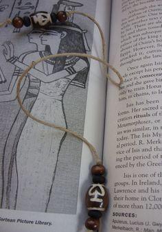Desert Bead Hemp Bookmarker by The Gypsy Bead, $8.00, via Etsy.