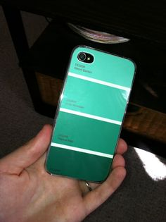 DIY paint chip iphone case