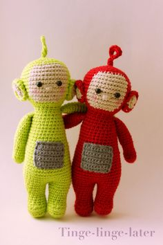 Screenies crochet pattern - amigurumi inspired by Teletubbies - Instant download by tingelater