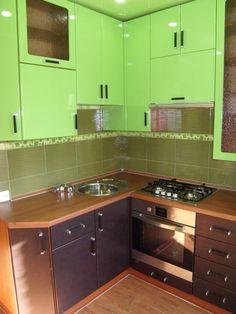 Кухня. Моё творениев салатовом цвете