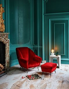 Interior Inspiration - Art Deco | Celebrate the 1920s with bold Art Deco design. Choose stylish geometrics, luxe materials and vibrant colours for your interiors... #theloungeco #lounge #livingroom #artdeco #1920s #velvet #velvetsofa #greatgatsby #vibrantcolours #geometrics #interiorinspiration #jeweltones