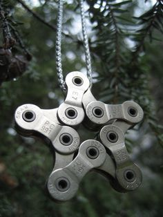 Inspiring ornament for an industrial theme Christmas tree...