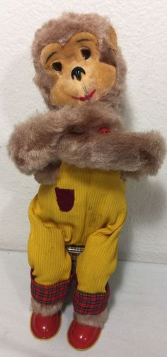 1960's Dancing Monkey Trade Mark Alps Made in Japan Tin Battery PARTS OR REPAIR #Alps