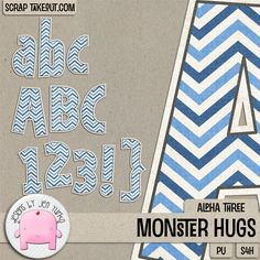 Monster Hugs {Alpha 3}} by Jen Yurko Designs! Grab this adorable and fun alpha set while it's 25% off, or grab the bundle for huge savings!