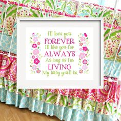 Ill LOVE you forever  Flower print for Kumari by YassisPlace, $24.95