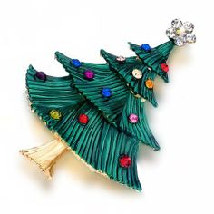 "Pugster ""winter Sparkle"" Colorful Crystal Green Multicolor Christmas Tree Swarovski Crystal Marcasite And Enamel Giftable Pin Brooch Pugster. $23.99. Exquisitely detailed designer style with Swarovski cystal element.. Can be pinned on your gown or fastened in your hair with bobby pins.. Occasion: casual wear,anniversary, bridal, cocktail party, wedding. Money-back Satisfaction Guarantee.. One free elegant cushioned Gift box available with every order from Pugster."