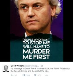 Zastaví mě jen smrt, vzkazuje odpůrce islámu Geert Wilders, který hodlá zakázat Korán a zavřít mešity | ParlamentniListy.cz – politika ze všech stran