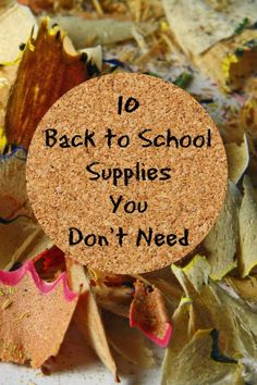 10 Back to School Su