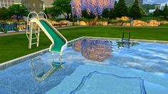 Leo 4 Sims: Pool slide • Sims 4 Downloads