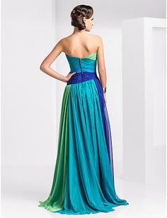Prom/Military Ball/Formal Evening Dress - Sheath/Column Strapless/Sweetheart Floor-length Chiffon – USD $ 109.99