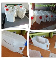 DIY - How to Acid Stain a Concrete PatioIf you don't mind a little physical work this is an easy project that Reuse Plastic Bottles, Plastic Bottle Crafts, Milk Bottles, Recycled Bottles, Diy Crafts Hacks, Diy Craft Projects, Diy Rangement, Ideas Para Organizar, Diy Kitchen Storage