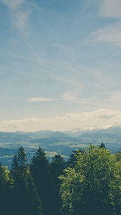 Green Land Sky Blue Summer Nature #iPhone #5s #wallpaper