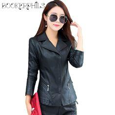 2017 New Spring Autumn Women's Leather Jacket Women Sheepskin Coat Female Slim Women PU Leather Coat Outerwear Plus Size 4XL -*- AliExpress Affiliate's buyable pin. View the item in details on www.aliexpress.com by clicking the VISIT button #Women'sjackets