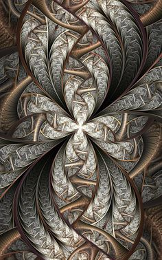 zentangle - amazing depth in this Silver and Gold design that mimics fractal art Tangle Art, Zentangle Patterns, Zentangles, Fractal Art, Sacred Geometry, Doodle Art, Textures Patterns, Digital Art, Creations