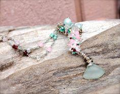 Mermaid Tail Necklace  Sea Glass Jewelry by MermaidTearsDesigns #mermaid #mermaidtail #hawaii #seaglass