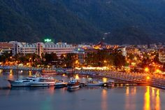 Colorful lights of Icmeler Marmaris @ night #Marmaris #Turkey #Travel