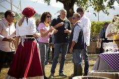 Dominga Cotarella a #colazione con i Custodi di #Montiano per la Grande #Vendemmia in Costume #Falesco