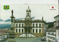 """br-411806 #Inconfidencia Museum - of  Ouro Preto, State: Minas Gerais. Vila Rica do Ouro Preto (Rich Village of the Black Gold) is a city in the state of """"Minas Gerais"""", a former colonial mining town located in the """"Serra do Espinhaço"""" mountains & designated a World Heritage Site by UNESCO because of its outstanding Baroque architecture. Founded at the end of the 17th century, """"Ouro Preto"""" (meaning Black Gold) was the focal point of the gold rush &  Brazil's golden age in the 18th century"""