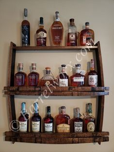 36 whiskey barrel stave bar back shelf image 0 Whiskey Barrel Bar, Whiskey Barrel Furniture, Wine Barrels, Reclaimed Wood Furniture, Upcycled Furniture, Handmade Furniture, Rustic Furniture, Bar Furniture, Furniture Projects