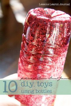 10 fun and easy DIY toys using bottles.