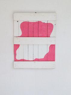 Alfonso Hüppi, 1966, Kaseinfarbe auf Holz, 90 x 67 x 7,5 cm