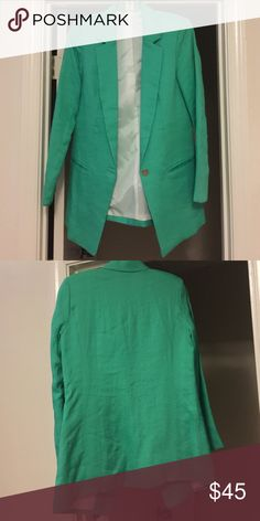 Vintage Turquoise Blazer Never worn // Perfect Condition // Size M // Soft Lining // Beautiful Color // Offer Accepted // Jackets & Coats Blazers